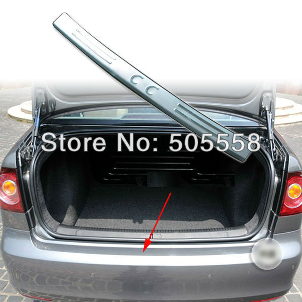 Stainless Steel Rear Bumper Sill plate cover For 2010-2012 Volkswagen VW CC(China (Mainland))