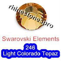 ss20 GENUINE Swarovski Elements Light Colorado Topaz ( 246 ) 144 pcs ( NO hotfix Rhinestone ) Clear Crystal 20ss 2058 FLATBACK(Hong Kong)