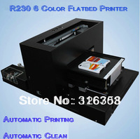 Free Shipping R230 Economic A4 Size 6 Color Flatbed Printer Card Printer T-shirt Printer Multi-function printer