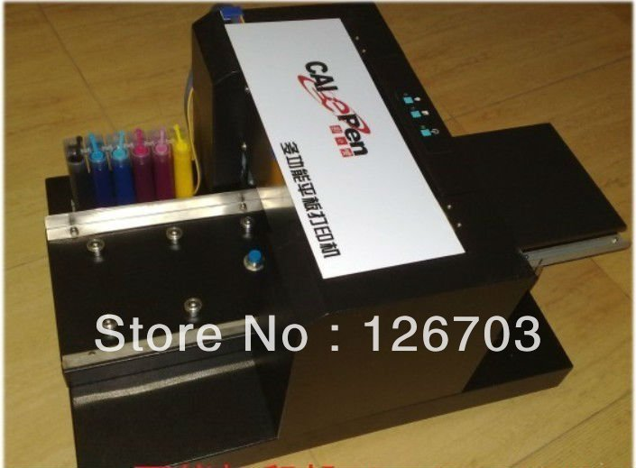 15% Off A4 Food Digital Flatbed Printer 6 Color Printer High Quality Outside ink cartridge /continuous ink supply system(China (Mainland))