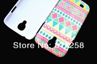 Zebra hard plastic back cover cases skin for samsung galaxy S4 I9500,Folk style cover case for samsung galaxy S4,200pcs/lot