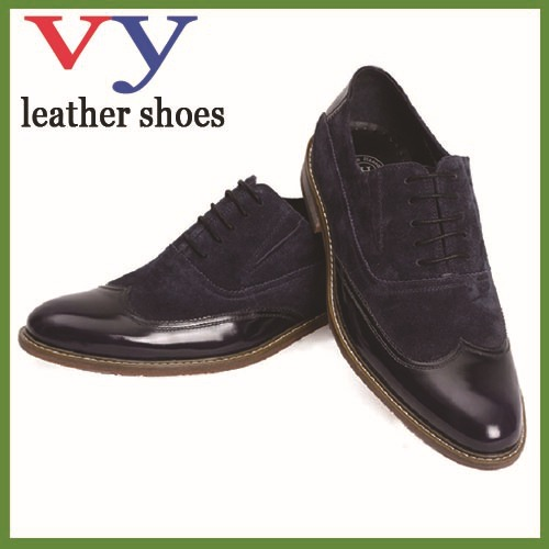 holiday hot sale love heart shap point toe handmade shoes man in genuine cow leather + suede cow leather upper in top quality(China (Mainland))