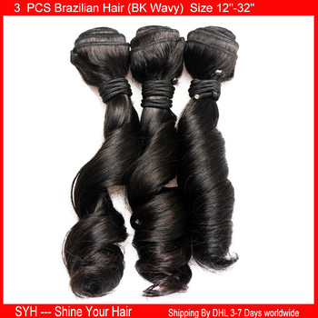 3 bundles BK wave 12''-32'' 100% Brazilian Virgin Human Hair Extensions BK wavy Can Be Dyed Ombre Unprocessed Weave