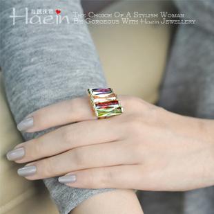 Haein inditer sexy cutout one-piece dress 2012 accessories ring female