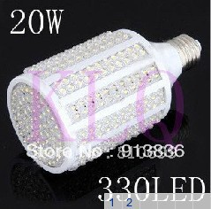 Beautiful E 27 base AC 110/220 V 330 bead LED maize lamp , high brightness quality assurance + free shipping 2pcs/lot(China (Mainland))