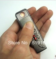 Free Shipping! Scorpion Red Pearl Electronic USB Cigar Lighter Flameless