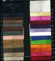 Little crocodile grain semi PU leather fabric luggage soft BaoGe DIY door leather inferior smooth elastic