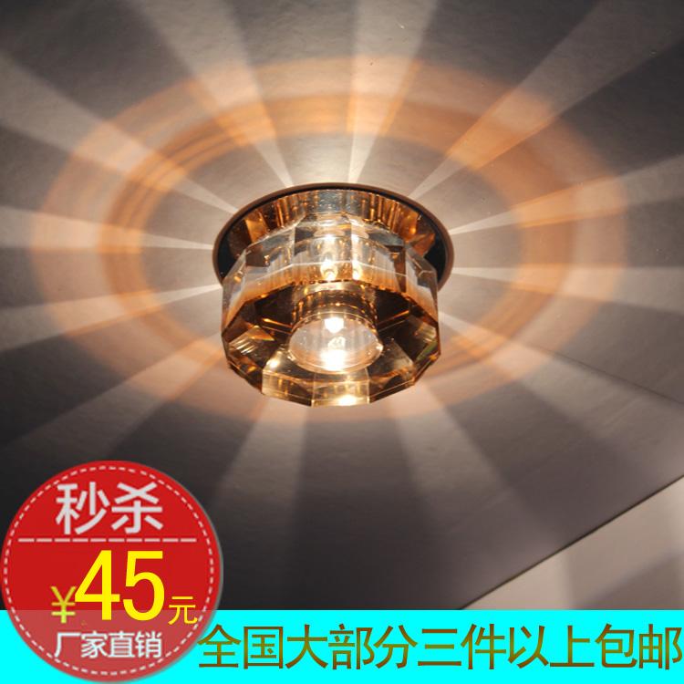 Quality crystal ceiling light led corridor lights hallway lights entrance lights balcony lamp small crystal living room lamps(China (Mainland))