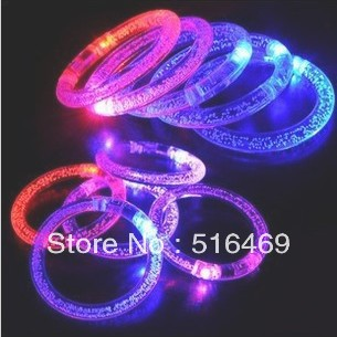 Acrylic flash bracelet neon stick electronic led glow luminous accessories shiny hand ring carnival wedding accessories party(China (Mainland))