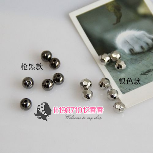 free shipping Ccb plastic beads 8mm gun black glossy beads earth beads diy beads material pj221(China (Mainland))