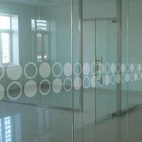 Waistline glass door crash bar customize glass partition simple pattern decorative window film
