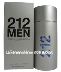 212 MEN 3.4 oz edt Cologne SEALED(China (Mainland))
