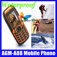A88-Rugged 1.3MP Camera Outdoor Waterproof IP67 Dual Sim Card Dustproof Shockproof GSM Unlocked FM 2.0 Inch Mobile Cell Phone