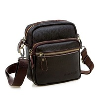 genuine leather messenger bag cowhide mini-package