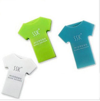 3 clour Cute T-shirt shape memory usb card reader portable mobile phone card reader free shipping