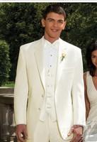 Mens wedding suits 2013 men IVORY 'TROY' TUXEDO Slim business suits Jacket+pants+vest