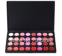 Free shipping Professional 32 Color Cosmetic Lip Lips Gloss Lipsticks Makeup Palette Set kit 8471