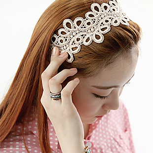 Stella free shipping A139 lace hair bands headband hair pin hair band headband bridal hair accessories(China (Mainland))