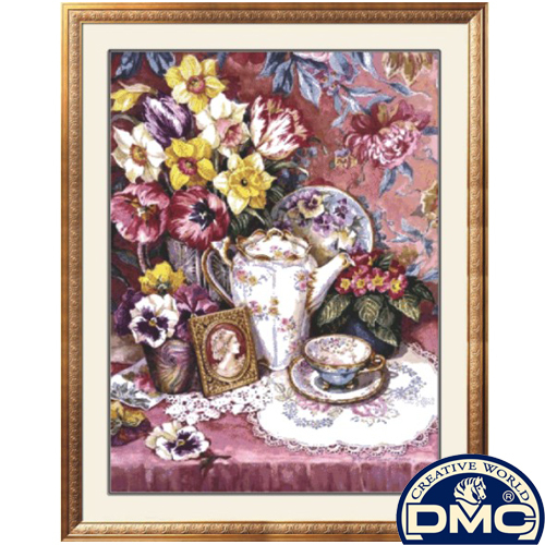 Dmc cross stitch herbal kit dining table flower 21355 fashion(China (Mainland))