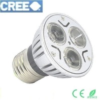 12V AC/DC Dimmable 3W 9W LED E27 High Power spotlight down light Lighting lamp White warm Green Yellow Red LS49 A+