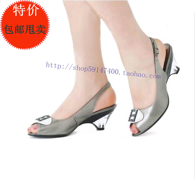 Rivets PU sandals plus size female sandals 40 - 43 shoes crystal hasp female shoes(China (Mainland))