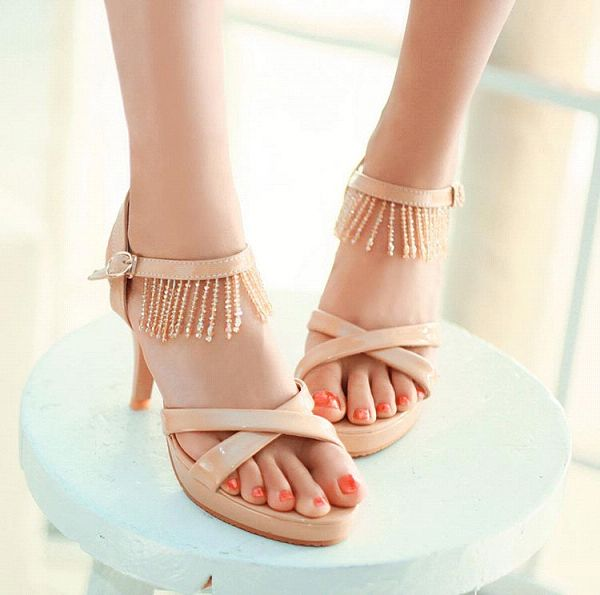 2013 female sandals rhinestone stiletto sandals gentlewomen sandals small yards 31 - 33 plus size 40 - 43(China (Mainland))