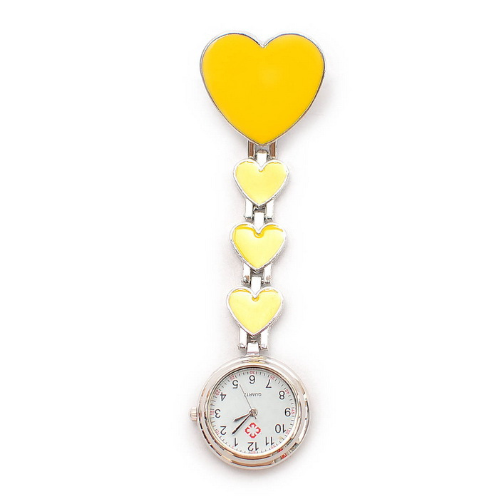 Silver nurse table watch heart pocket watch ladies watch table nurse pocket watch 6(China (Mainland))