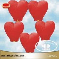 wholesale flying wishing heart shape sky lanterns