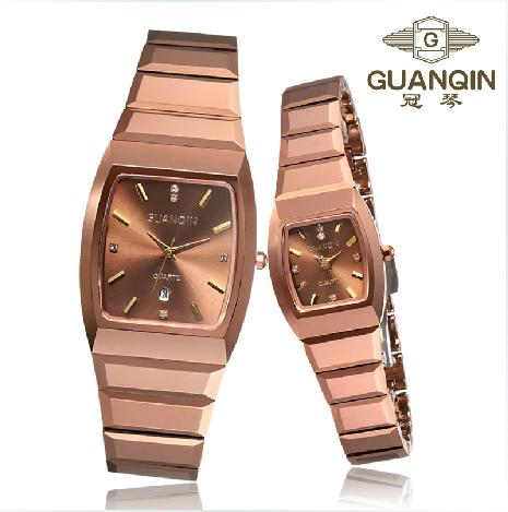 Tungsten steel square lovers spermatagonial ultra-thin watches mens watch ladies watch fashion(China (Mainland))