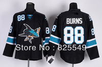 Free Shipping,Cheap Wholesale Ice Hockey Jersey,San Jose  #88 Brent Burns Jerseys,Embroidery logos,Size 48-56,Mix orde