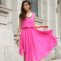 2013 summer chiffon one-piece dress women's bohemia full dress summer beach full dress 4803