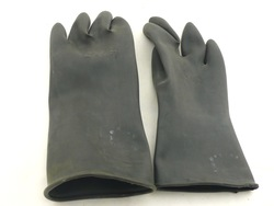 Free shipping! Thickening 31cmb industrial gloves sand gloves black latex gloves(China (Mainland))
