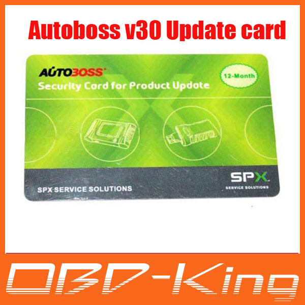 Autoboss V30 sucurity card for product update(China (Mainland))