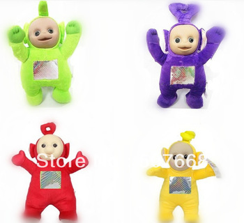"Teletubby Plush Toy Doll Teletubbies 10"" Laa Tinky Winky Plush toy 60pcs/lot Free Shipping"