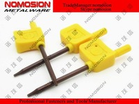 CNC TOOLS Wrench  T15 100PCS/bag  yellow flag-shaped torx wrench  Torx key,allen wrench