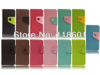wholesale 100pcs/lot New Fashion Luxury Flip Wallet Leather Case With Card Holder TPU Case For iPod Touch 5 5G