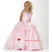 Off The Shoulder Spaghetti Straps Sleeveless Beaded Pink Floor-length Organza Dress With Beaded Bodice G028