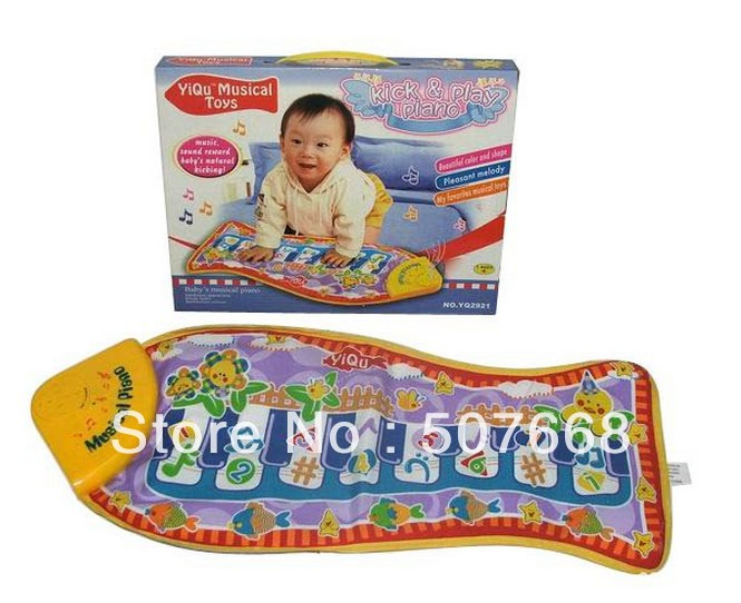 36pcs/lot Baby Kid Child Piano Music Fish Animal Mat sound and music Touch Kick Play Fun(China (Mainland))