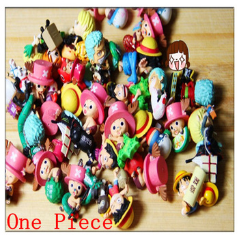 New One Piece Anime Mini PVC Figures Toy Doll  Children Gift 50 pcs/lot Wholesale 3D Model Decoration Collectable Action Figure