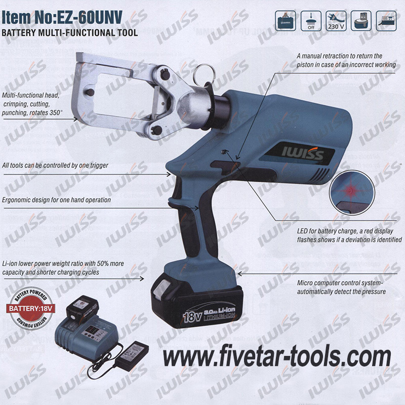 EZ-60UNV Multi-Function Battery Hydraulic Tools(China (Mainland))
