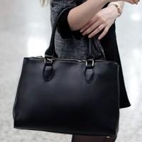 Free shipping 2013 black briefcase handbag vintage messenger bag big bag one shoulder cross-body bags female