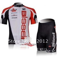 Bissell 2012 riding a bicycle cycling clothing cycling jersey+ cycling shorts in the summer and fall