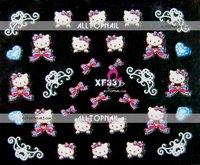 Free shipping-A_Grade Hello kitty 3d nail art stickers mix designs Professional 50pcs/lot nail art stickers