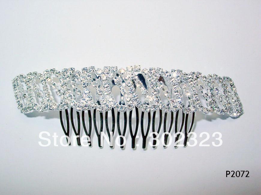 DHL,EMS,FEDEX Free shipping, clear rhinestone heart shape wedding hair comb ,wholesaler and retailer(China (Mainland))