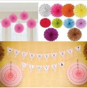 Free shipping 50pcs Paper Fan design Tissue fans Wedding Decoration