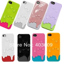 Free shipping Melting Ice Cream Pattern Case Cover for iPhone 5 5s  (Assorted Colors)