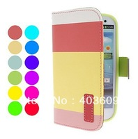 Wallet PU Leather Case Cover with Stand and Card Slot for Samsung Galaxy S3 I9300 (Assorted Colors)