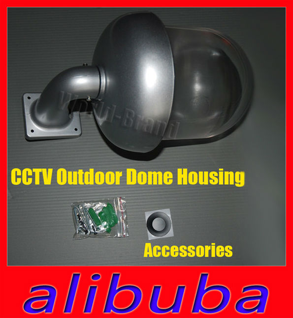New Outdoor Waterproof Dome Housing Enclosure for Security CCTV IP Pan Camera(China (Mainland))