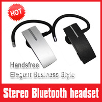 Hook style Multi-point  Bluetooth headset, Business style headphones earphone for phone call Silvercolor sound clear easy to use