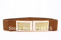 Acrylic diamond buckle cummerbund elastic belt waist decoration female all-match cummerbund elastic strap female